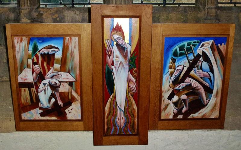 Wilcote altarpiece (closed)
