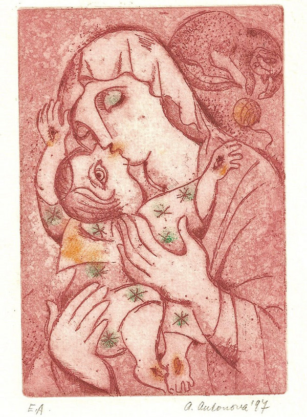 Madonna and Child by Alena Antonova
