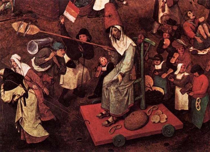 Lady Lent with pretzels