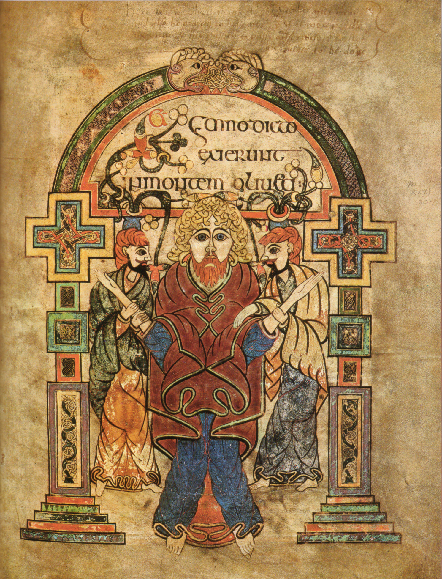 Christ on the Mount of Olives (Book of Kells)