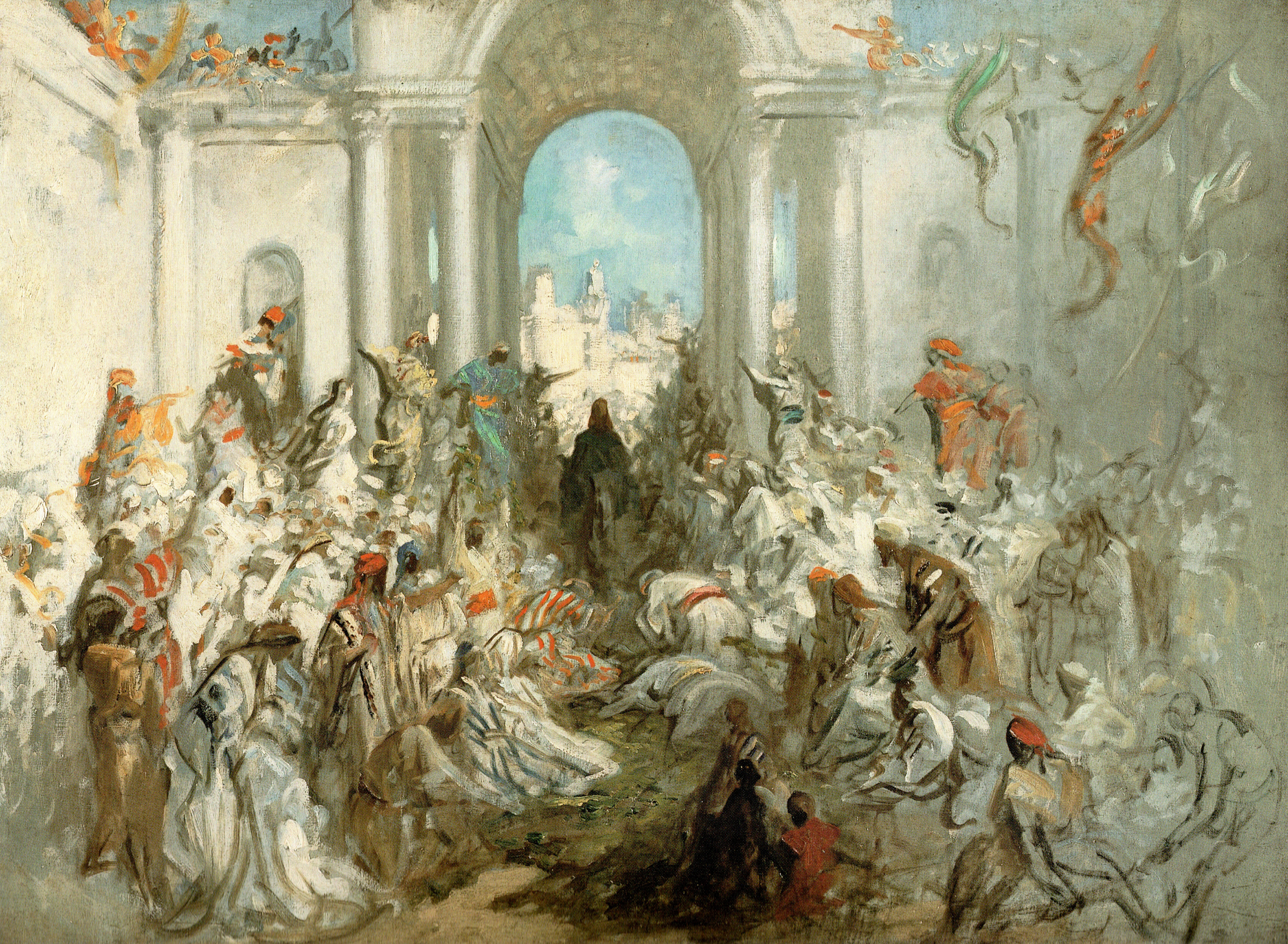 Triumphal Entry by Gustave Dore