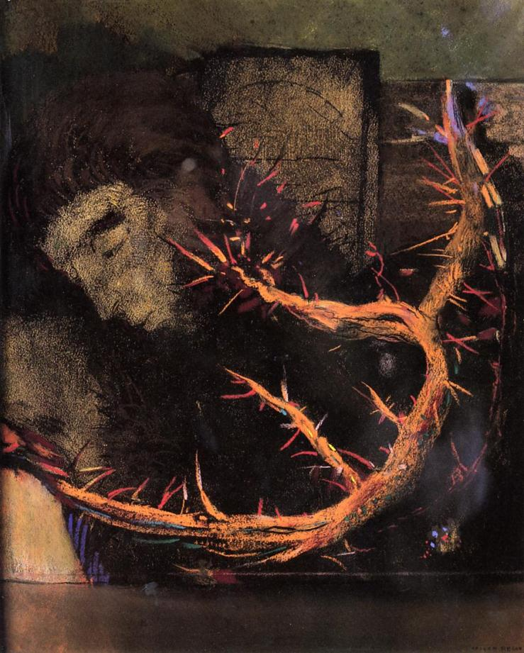 Christ with Red Thorns by Odilon Redon
