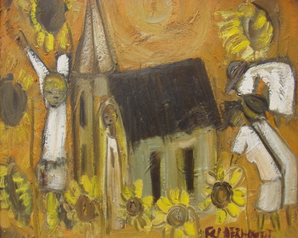 Going to Church by Frans Claerhout
