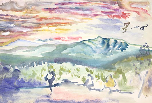 Chocorua Landscape by E. E. Cummings