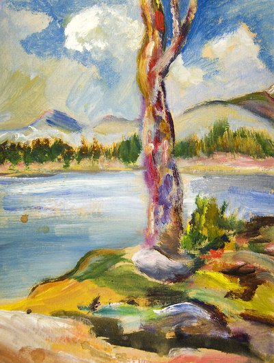 Tree on Shore by E. E. Cummings