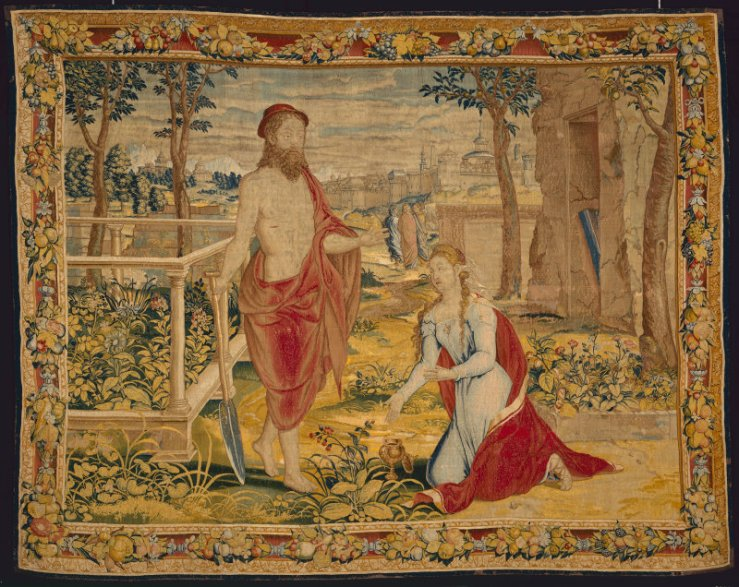 jesus as gardener tapestry