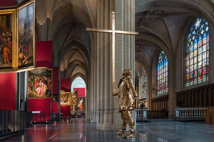 The Man Who Bears the Cross by Jan Fabre