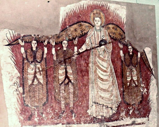 Fiery Furnace fresco from Faras Cathedral