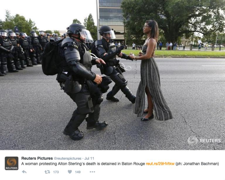 Ieshia Evans arrest photo