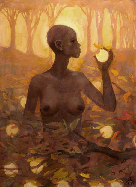 Eve and the Fruit of the Tree of Knowledge by J. Kirk Richards