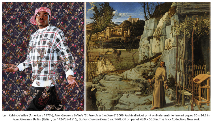 St. Francis in the Desert by Kehinde Wiley