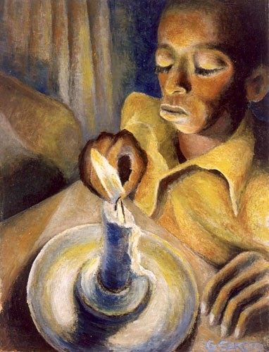 Boy with a Candle by Gerard Sekoto