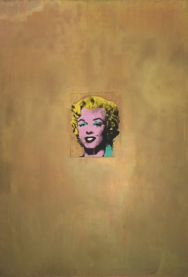 Gold Marilyn Monroe by Andy Warhol