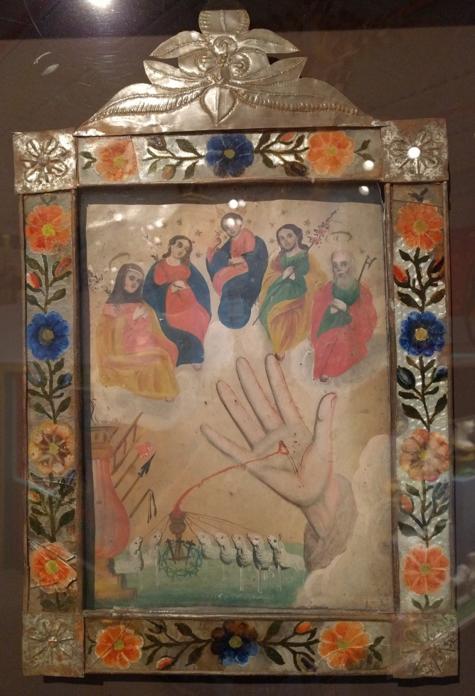 """La Mano Poderosa de Dios,"" Mexico, oil on tin, 19th century"
