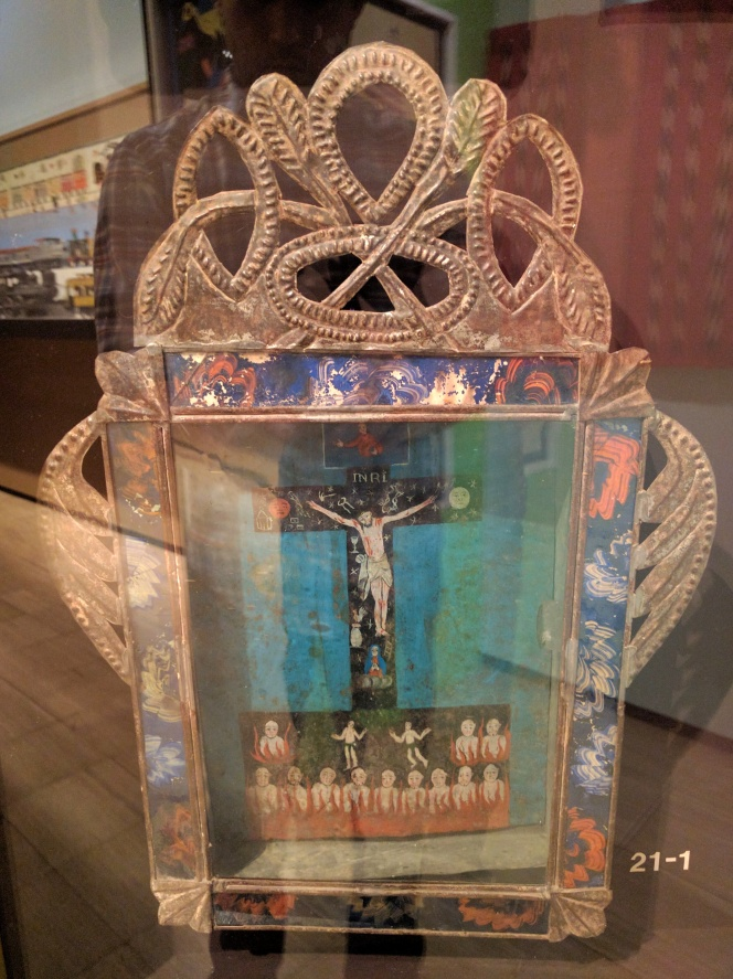 Tin retablo, Mexico, 19th century