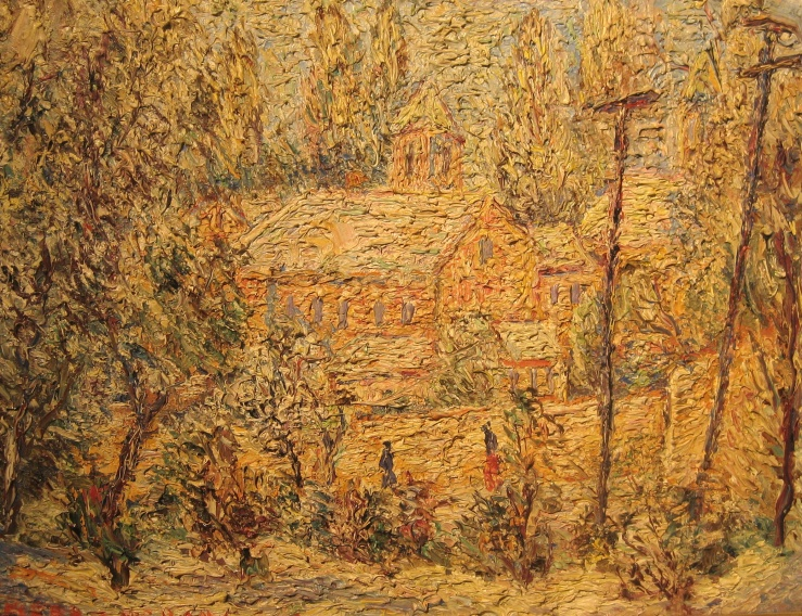Church in Snow by Alfred Morang