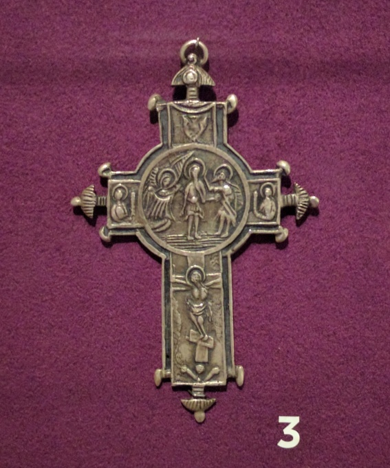 Silver cross from Jordan, 20th century