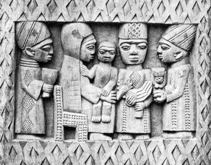 Yoruba nativity by George Bandele