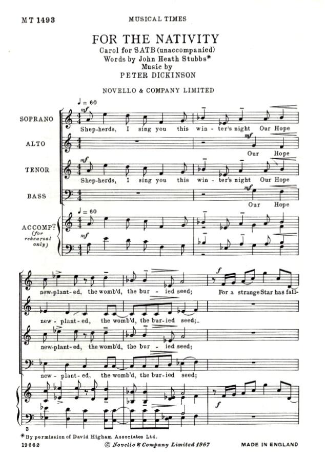 """For the Nativity"" carol"