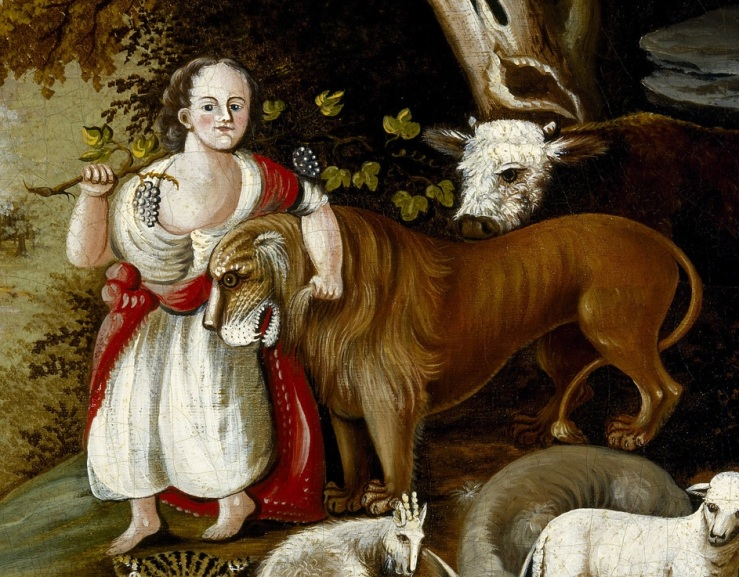 Peaceable Kingdom detail, Edward Hicks
