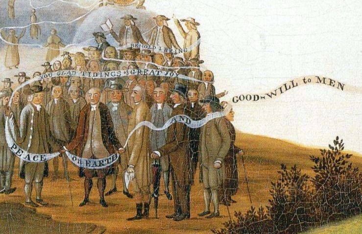 Peace banner detail, Edward Hicks