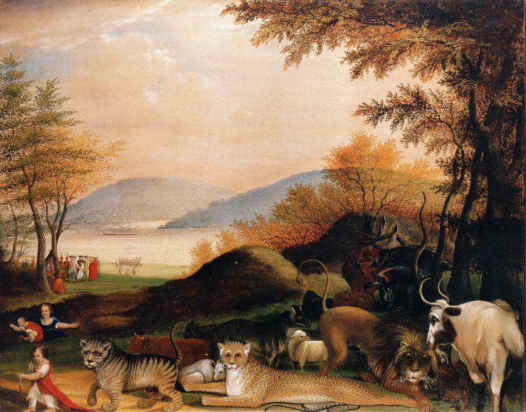 Peaceable Kingdom by Edward Hicks.