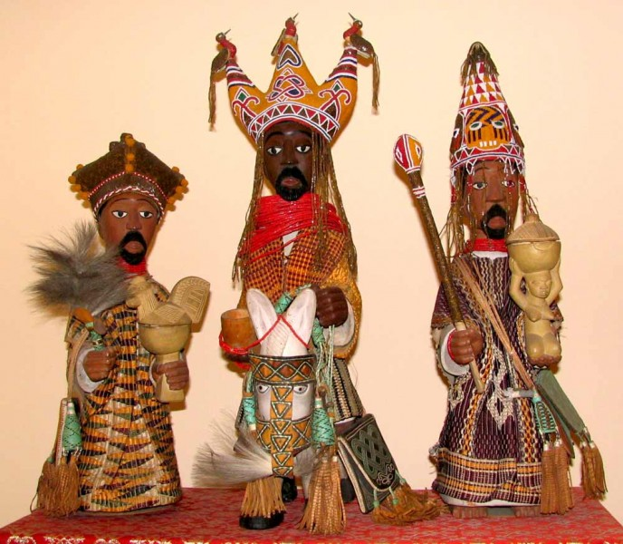 Three Wise Men (Yoruba) by Oye-Ekiti workshop