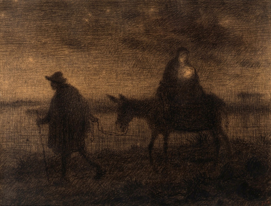 Flight to Egypt by Jean-Francois Millet