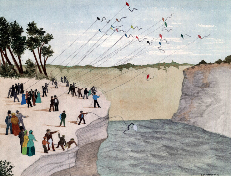 Niagara kite-flying contest