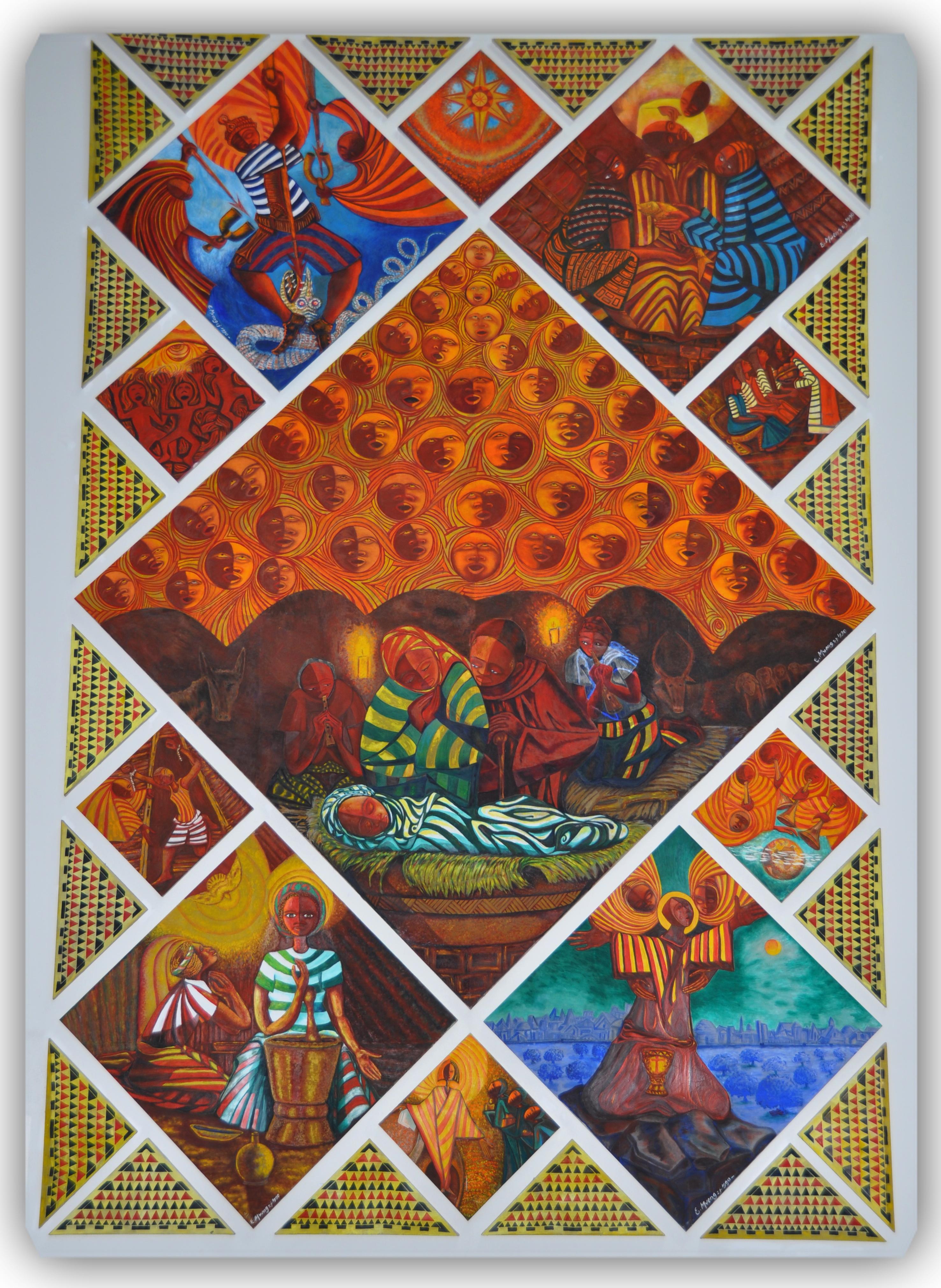 Holy Angels mural by Engelbert Mveng