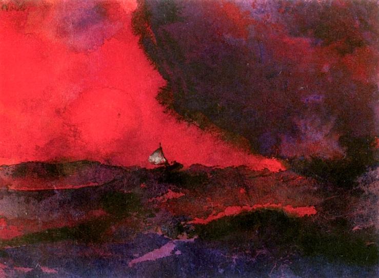 Dark Red Sea by Emil Nolde