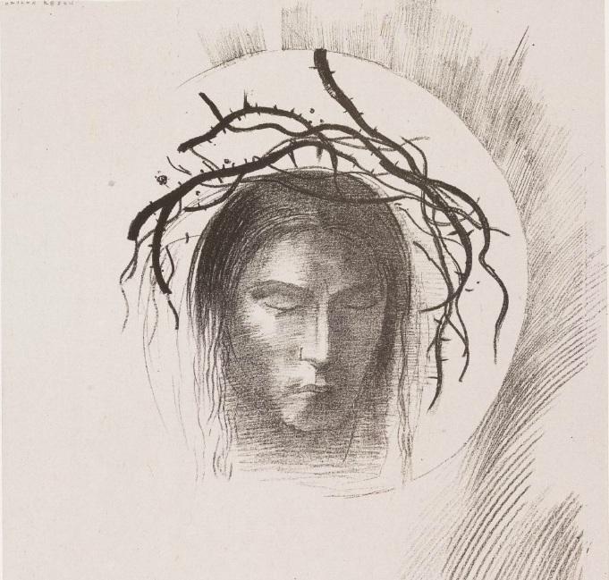 Head of Christ by Odilon Redon