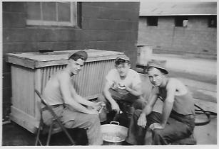 Camp Wood, New Jersey, September 1949. Army. Pop-Pop is on the right.
