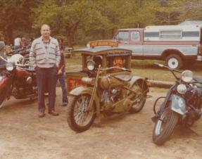 Fort Mott Cycle Show, June 1979. Pop-Pop rode a motorcycle into his seventies.