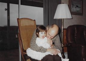 Pop-Pop with first grandkid, Amanda, 1988.
