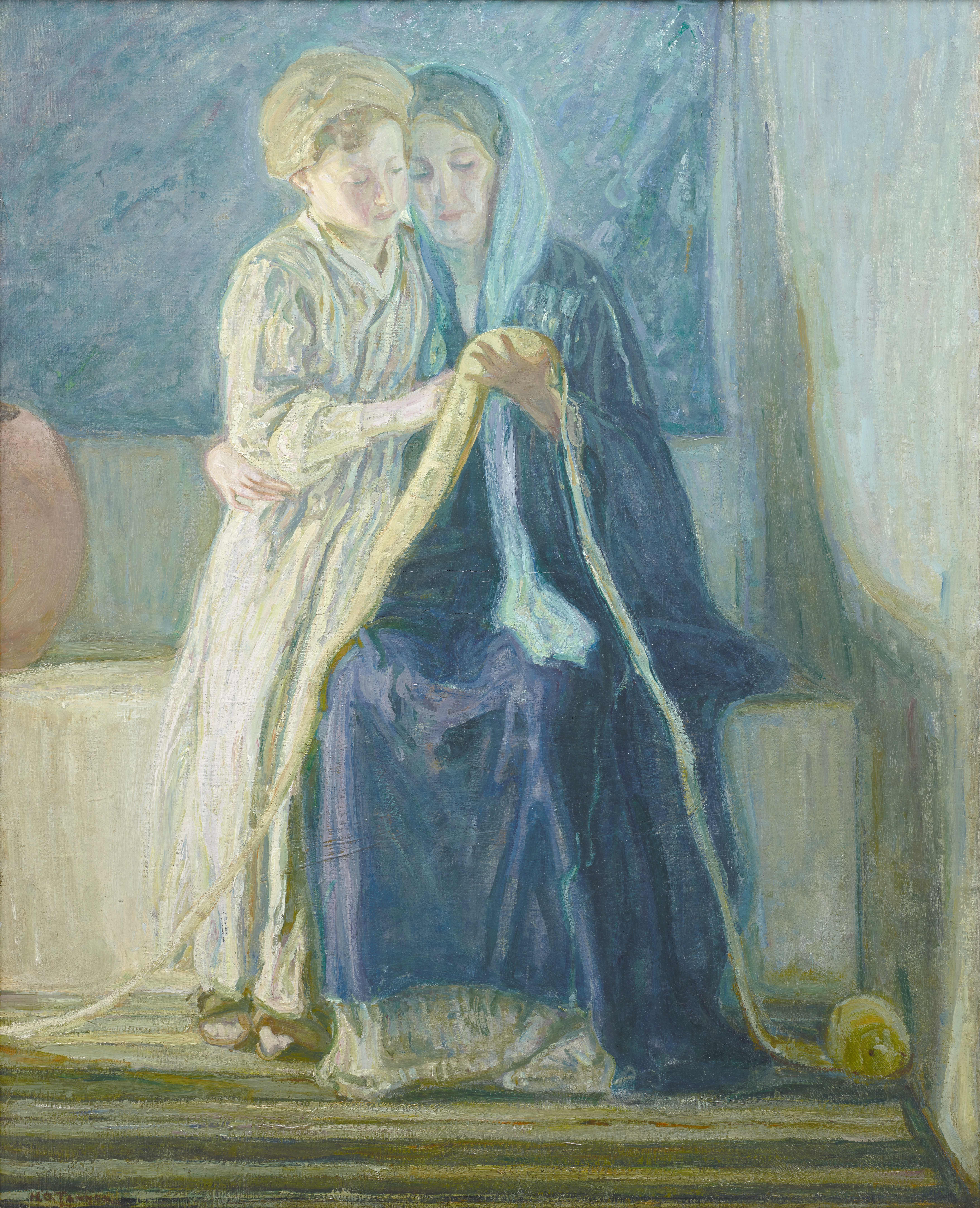 Christ and His Mother Studying the Scriptures by Henry Ossawa Tanner