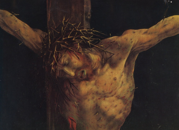 Crucifixion (detail) by Matthias Grunewald