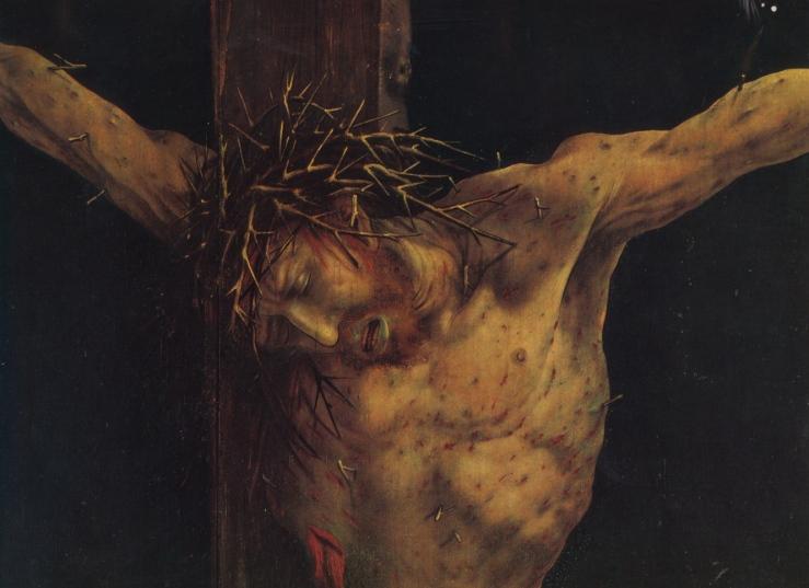 Crucifixion (detail) by Matthias Grunewald