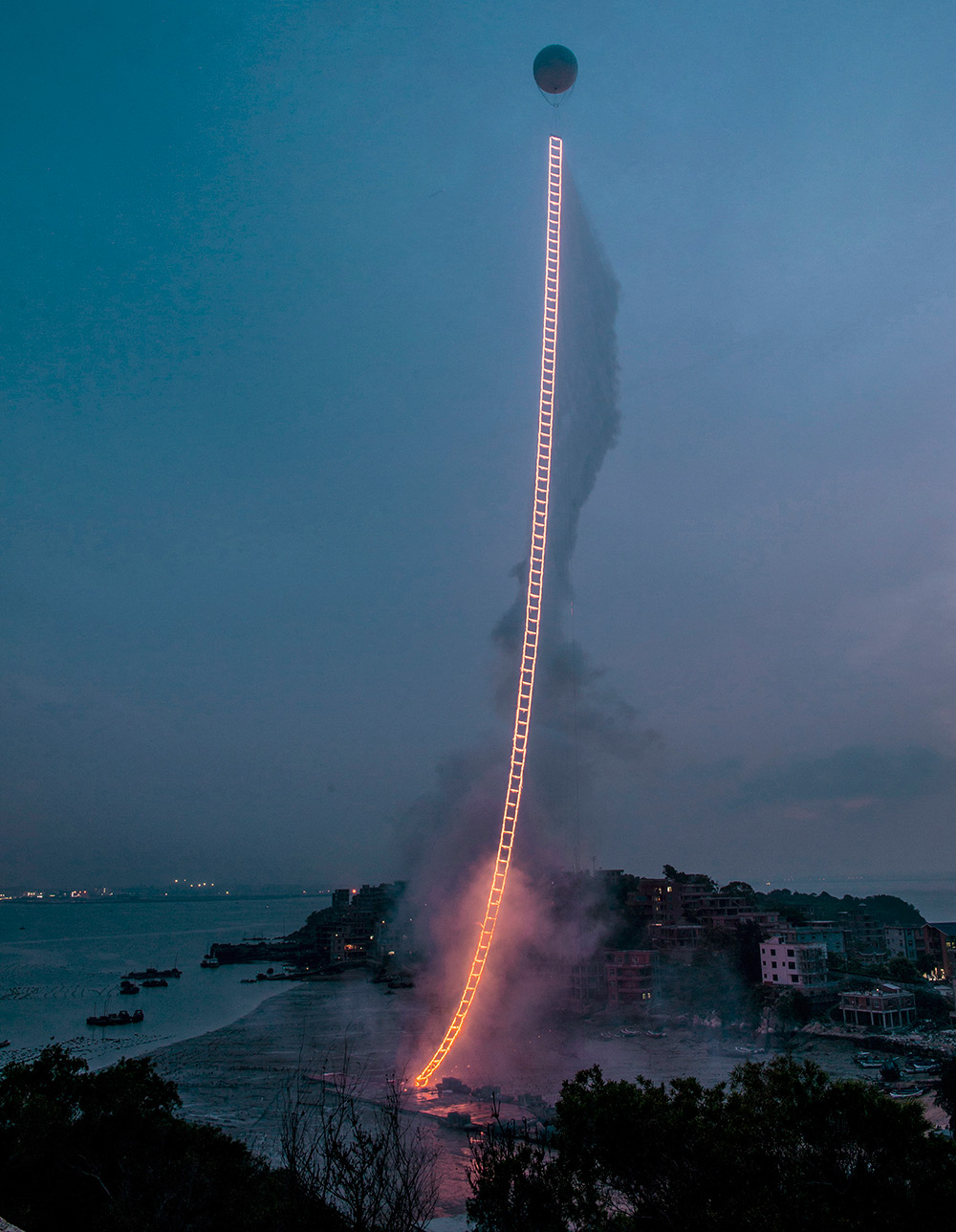 Sky Ladder by Cai Guo-Qiang