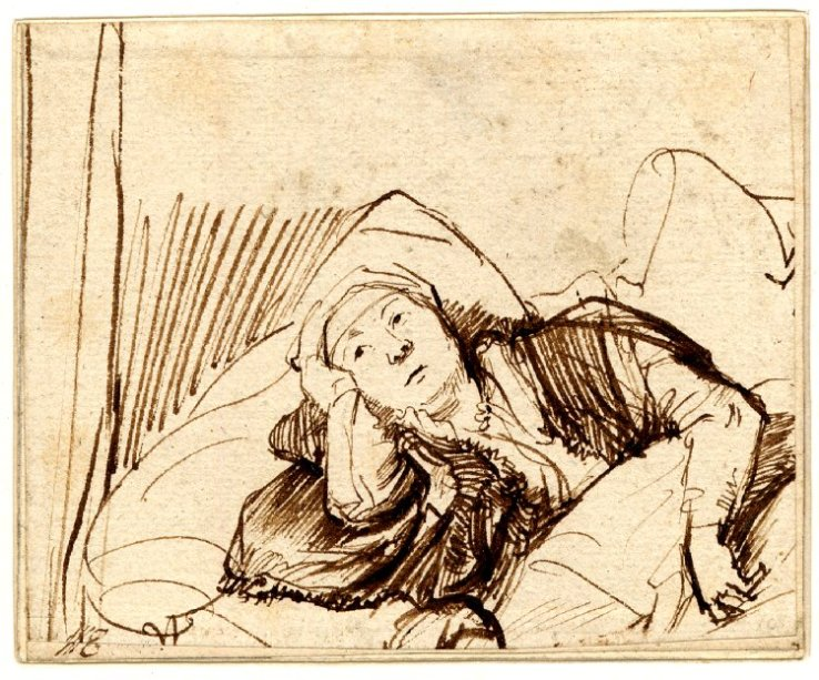 Saskia in Bed
