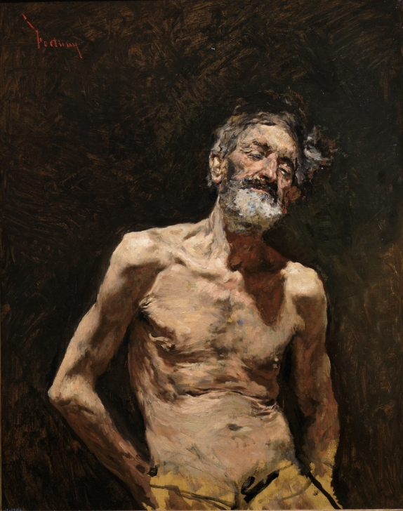 Nude Old Man in the Sun by Mariano Fortuny y Marsal