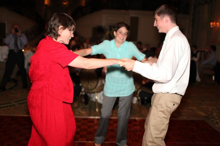 Aunt Marjie dancing