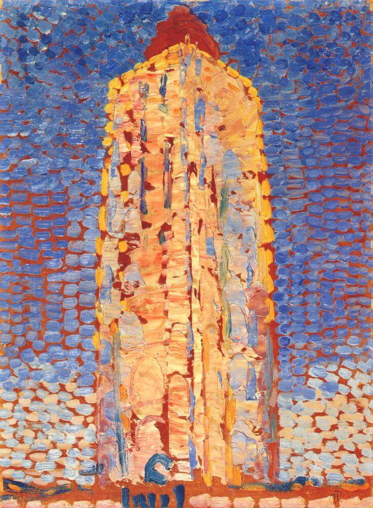 Lighthouse in Westkapelle by Piet Mondrian