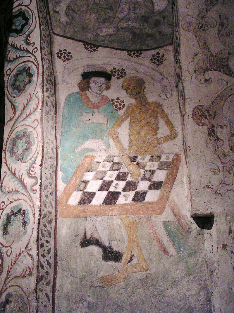 Death Playing Chess by Albertus Pictor