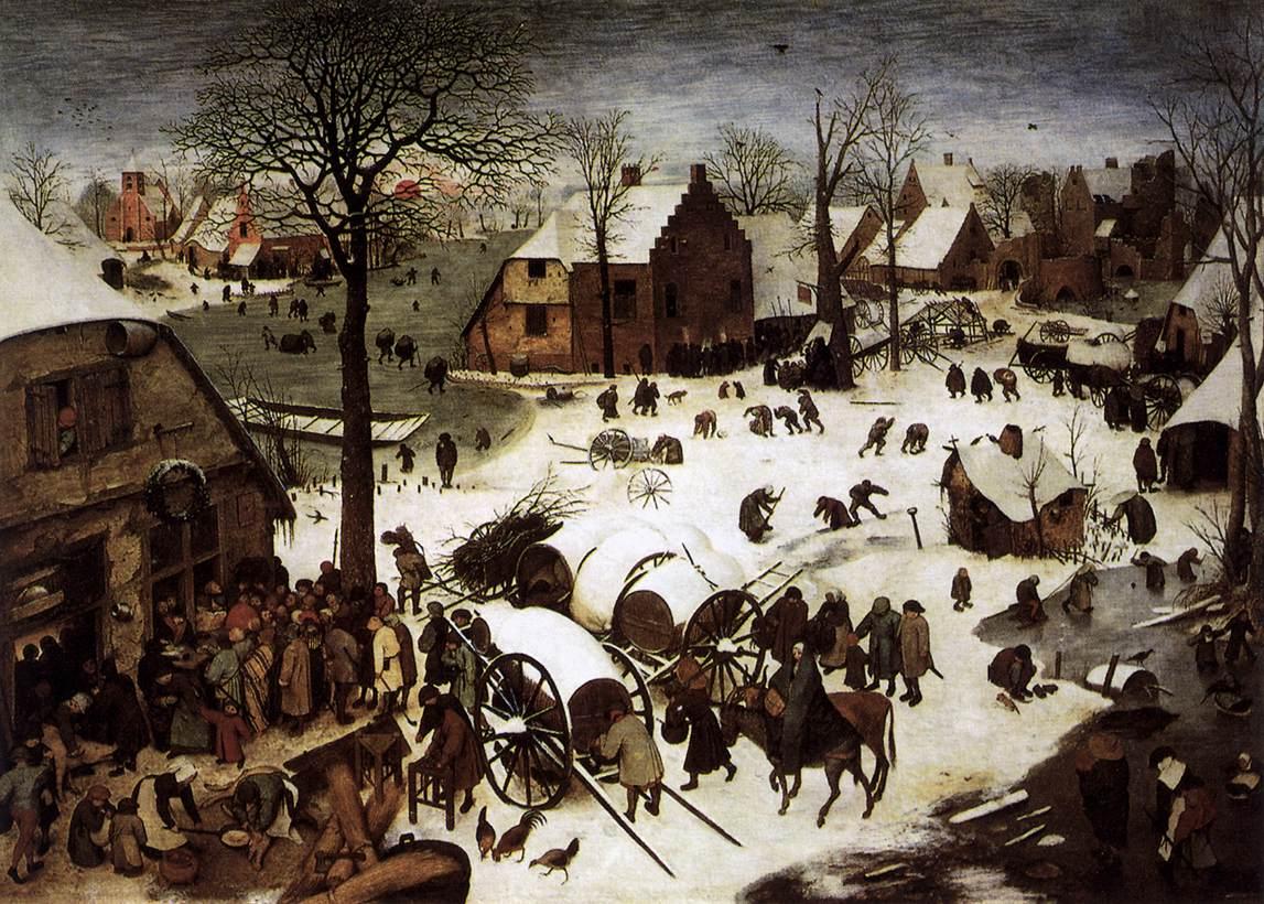 Census at Bethlehem by Pieter Bruegel