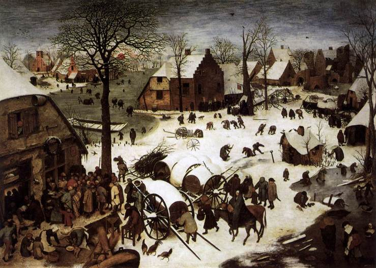 Census at Bethlehem by Pieter Bruegel