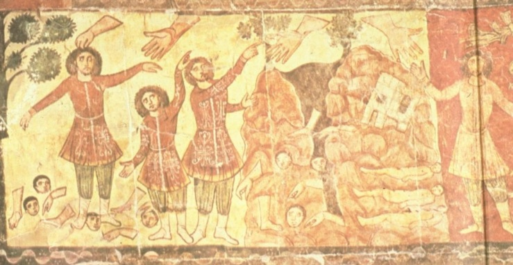 Ezekiel in the Valley of Dry Bones (Dura Europos Synagogue)