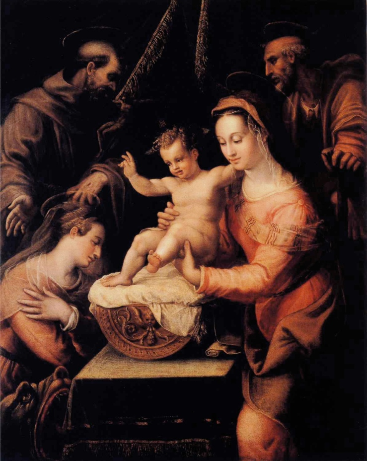 Holy Family with Saints by Lavinia Fontana