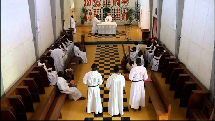 Mass at Keur Moussa Abbey in Senegal