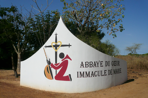 Keur Moussa Abbey sign